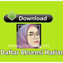 Download File : Contoh Format Daftar Absensi Harian Guru