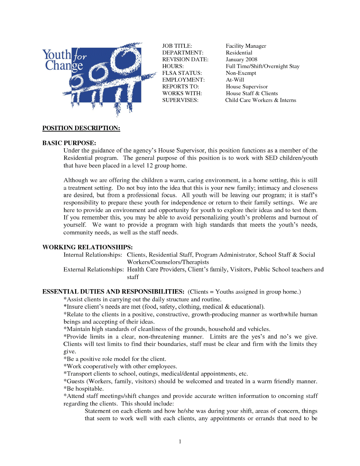 House Cleaning Resume Sample