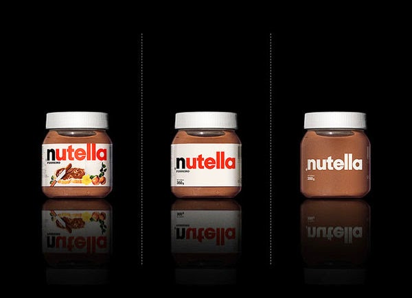 Nutella bared Packaging design