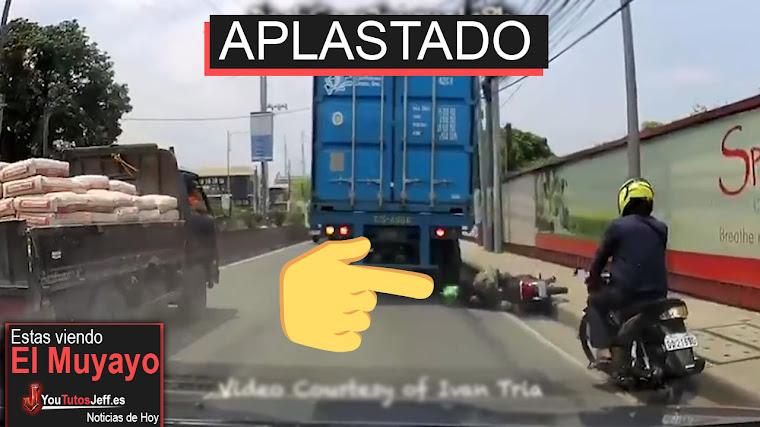 Camión aplasta la cabeza de un motociclista