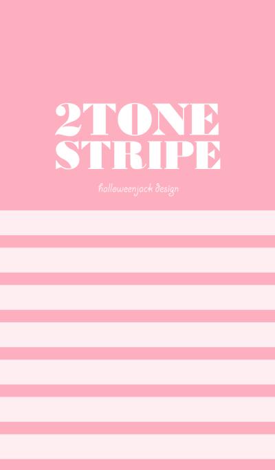 2 TONE STRIPE G - Rose Pink