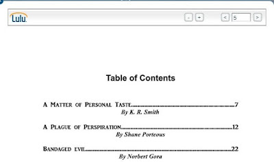Partial Table of Contents - my story in first spot!