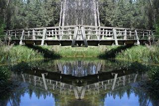 simetría, surreal, surrealismo, puente, madra, río, lago, turismo,