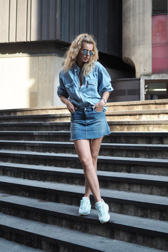 džínová košile sukně air max ray-ban