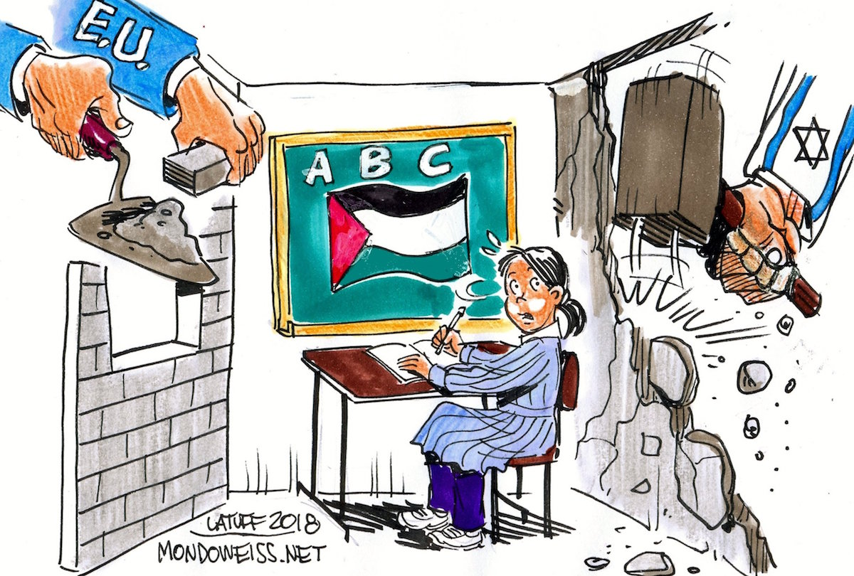 Israel Demolishing Eu Schools In Palestine Mondoweiss Anti Semitism Definition Thought