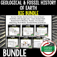 Fossils, EARTH SCIENCE MEGA BUNDLE, Earth Science Curriculum, Anchor Charts, Game Cards, Puzzles, Vocabulary Activities, Choice Boards, Digital Interactive Notebooks, Word Walls, Picture Puzzles, Test Prep
