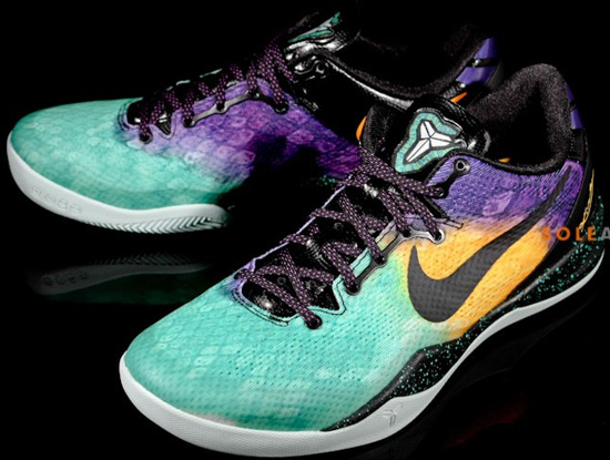 save off 3e95e 608a3 This Nike Kobe 8 System comes in a fiberglass, court purple, black and  laser purple colorway. Featuring a unique array of colors on the upper as  it fades ...