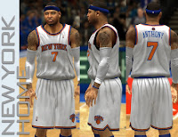 NBA 2K13 Knicks Home Jersey Patch