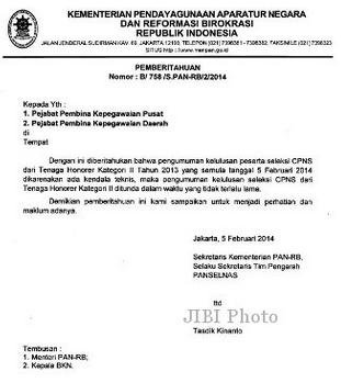 Pengumuman Hasil Akhir Seleksi CPNS 2013 - 2014 - Cara ...