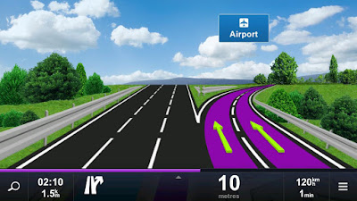 Tampilan Aplikasi Sygic GPS & Navigation Maps Offline