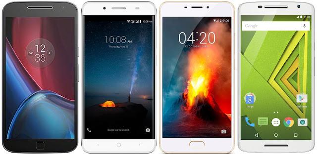 Motorola Moto G4 Plus vs ZTE Blade A610 Plus vs Meizu M5 Note vs Motorola Moto X Play
