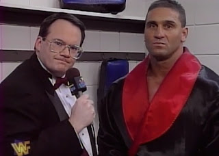 WWE / WWF - In Your House 19: D-Generation-X - Jim Cornette intervies Ken Shamrock about his WWF title match with Shawn Michaels