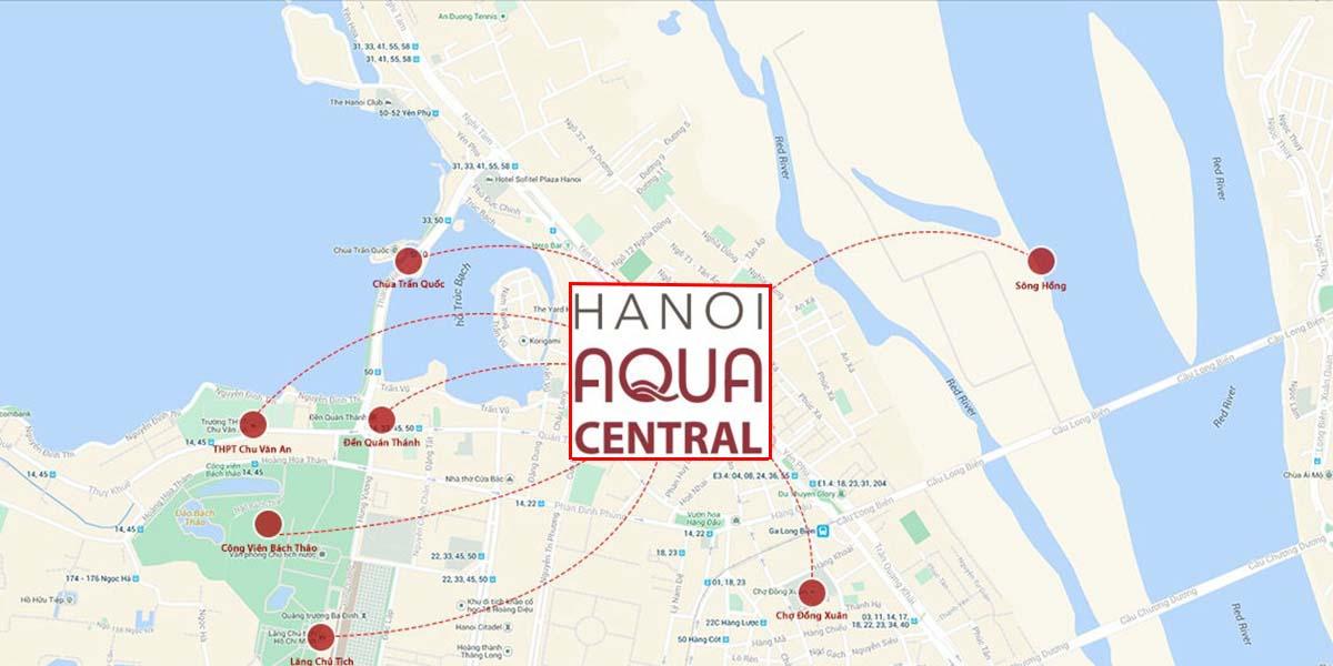Vị trí Hanoi Aqua Central 44 Yên Phụ