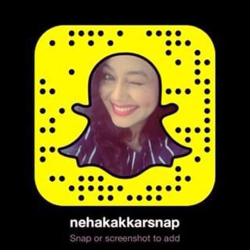 Neha Kakkar on snapchat photo