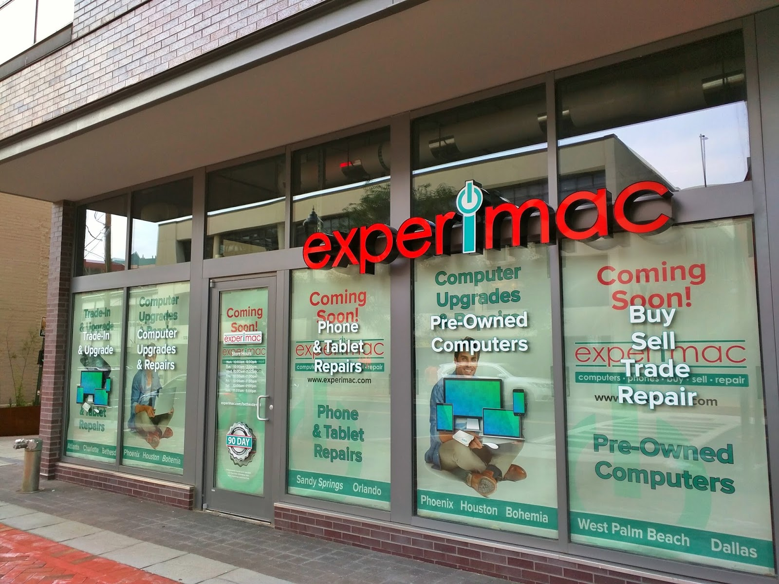 Robert Dyer @ Bethesda Row: Sign installed at Experimac in Bethesda