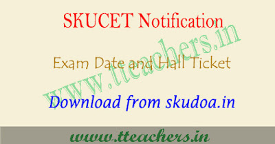 SKUCET 2019 hall ticket download, sku pgcet results 2019