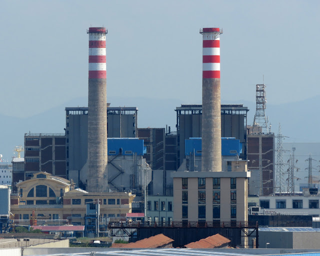 The Marzocco thermal power station, shut down in March 2015, Livorno