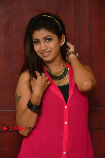 Actress Geethanjali Pictures in Pink Dress at Avanthika Movie Opening 0007