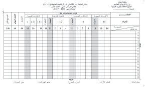 استمارات المتابعة للصف الخامس في اللغة العربية الفصل الاول