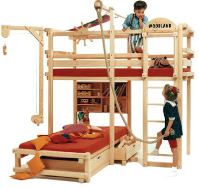 Ideas For Bedrooms Playground Bunk Beds