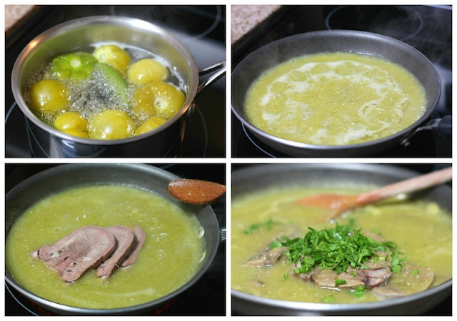 Beef Tongue in Salsa Verde an easy Mexican Recipe