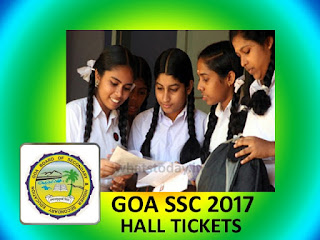 Goa Board Class 10th Hall Ticket 2017, Goa SSC Hall Ticket 2017