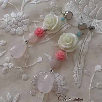 Pendientes de flamenca y fiesta, complementos de moda hechos a mano.