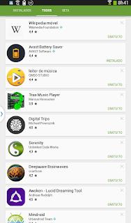 App baixados a meses atras no Android