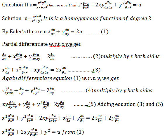 Partial Differentiation(Euler's theorem of homogeneous function)