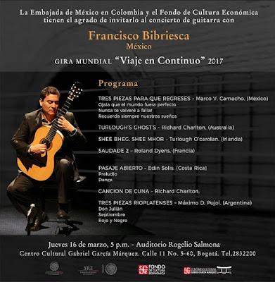 Desde México: Francisco Bibriesca en Bogotá