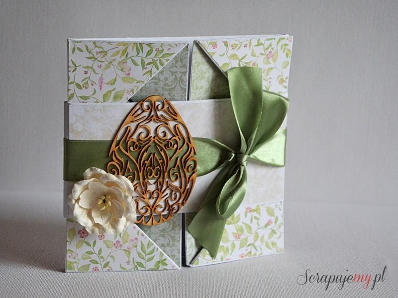 Napkin fold card, kartka serwetka, kartka rozkładana jak serwetka, składana kartka