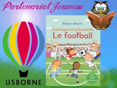Usborne football coloriages autocollants Euro 2016 activité ludique artistique avis blog