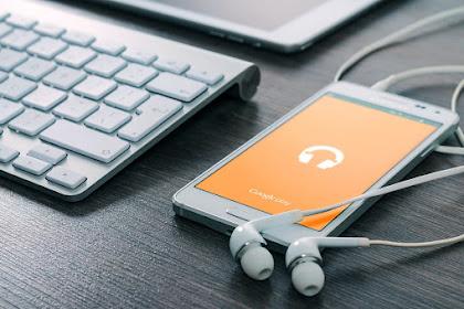 Smartphone keren dengan aplikasi musik terbuka
