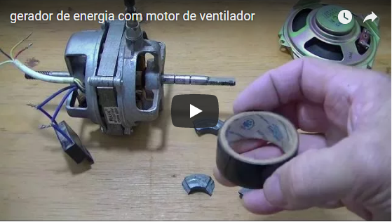 Como construir um Gerador de Energia Caseiro com motor de ventilador completo