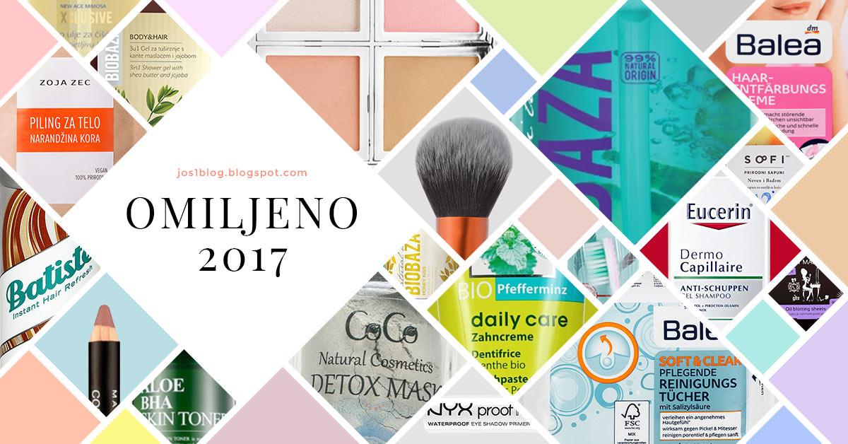 Omiljeni proizvodi u 2017 godini, nega lica, nega tela, nega kose, šminka, preporuke, preporuka, blog