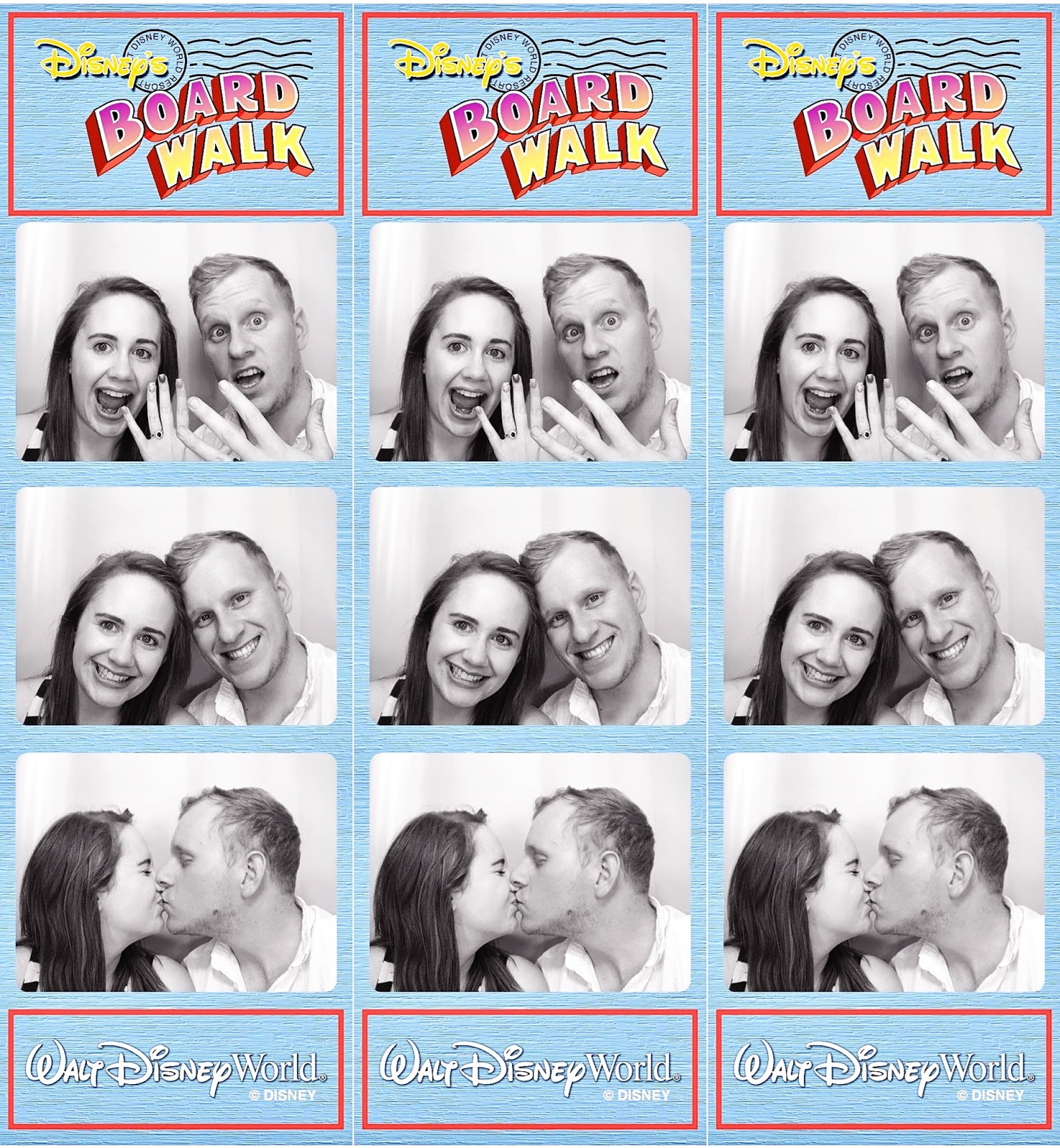 Disney Boardwalk Photo Booth Strips