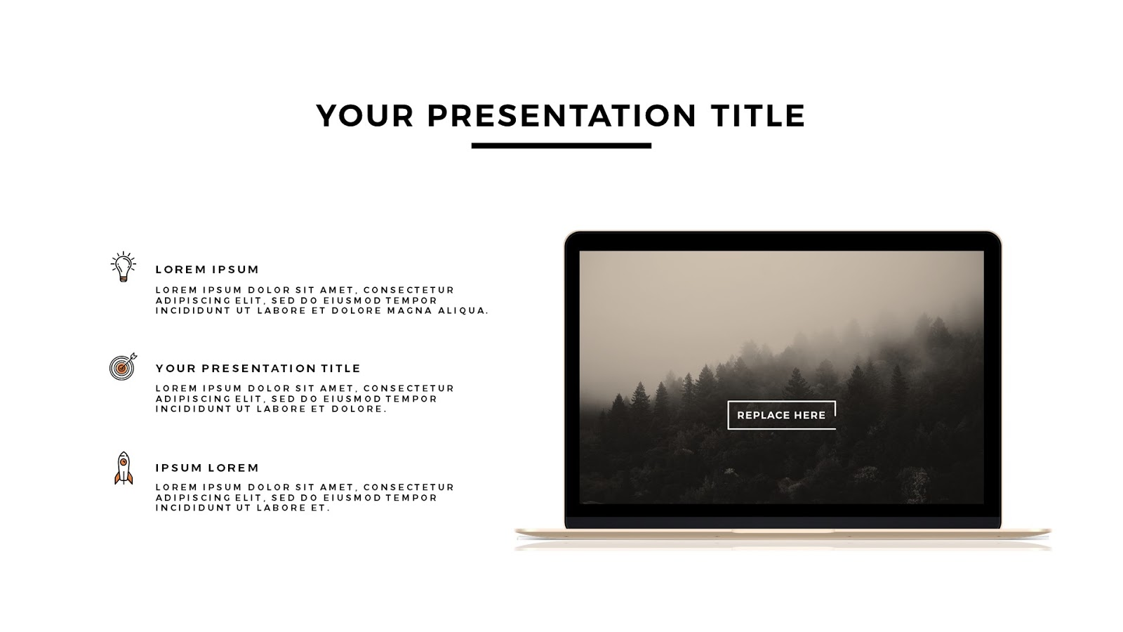 Apple devices mockups free powerpoint template infographicon macbook gold mockup free powerpoint template slide1 toneelgroepblik