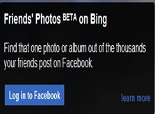 Search Friends Facebook Photos Using Bing
