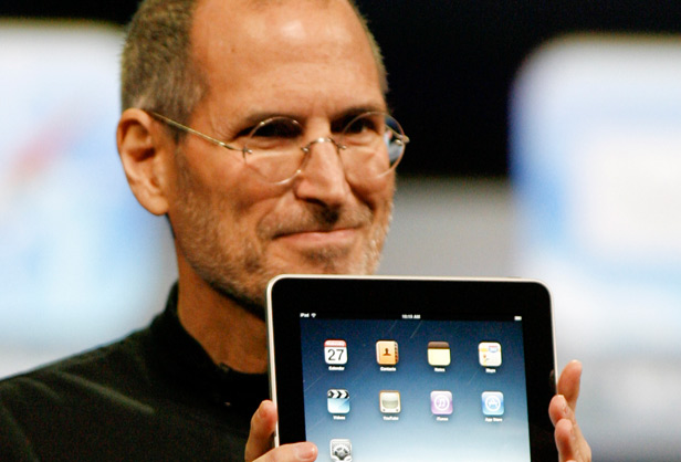 assignment papers entrepreneur steve jobs photo apple ipad tablet computer steve jobs introduced ipad in macworld convention in 2010