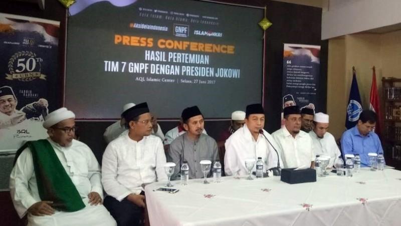 GNPF MUI gelar jumpa pers soal pertemuan dengan Jokowi