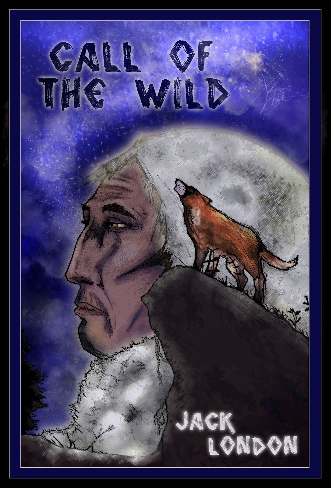 Thomas Wright Illustrator.: Call Of The Wild Cover - FMP Piece