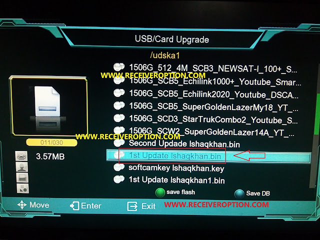HOW TO UPGRADE NEW SOFTWARE 1506G S/W VERSION SCB3 TYPE RECEIVERS