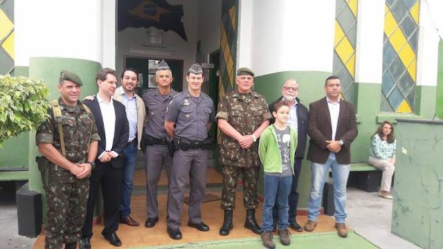 24º BPM/I participa da Solenidade de Recepção ao General do Exército em visita ao TG de Pinhal
