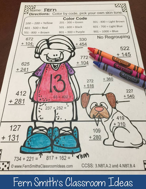 https://www.teacherspayteachers.com/Product/3rd-Grade-Go-Math-17-Color-By-Numbers-Addition-of-Multi-Digit-Numbers-to-1000-1351958