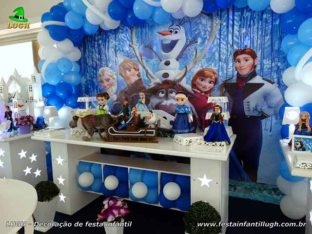 Tema infantil Frozen - aniversário de meninas