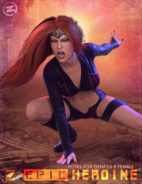 Z Epic Heroine Poses for Genesis 8 Female