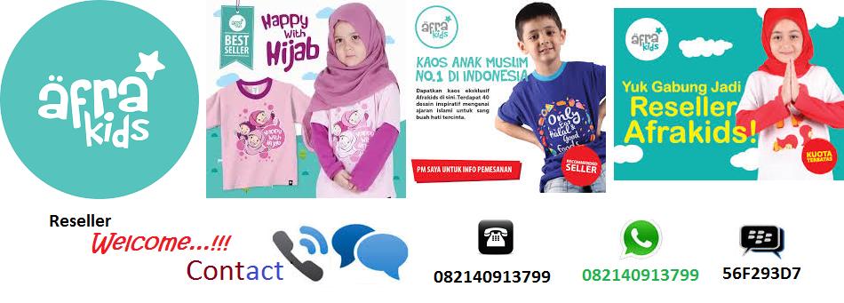Agen resmi Afrakids. Menjual kaos dengan desain dakwah islami & kualitas terbaik. Reseller & Dropshipper welcome, dapatkan diskon 15-25%.