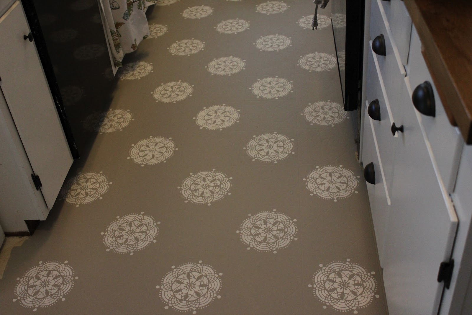 work with what you got painted kitchen kitchen floor lino