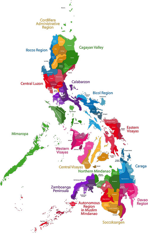 Mapa ng Pilipinas or Map of the Philippines in English