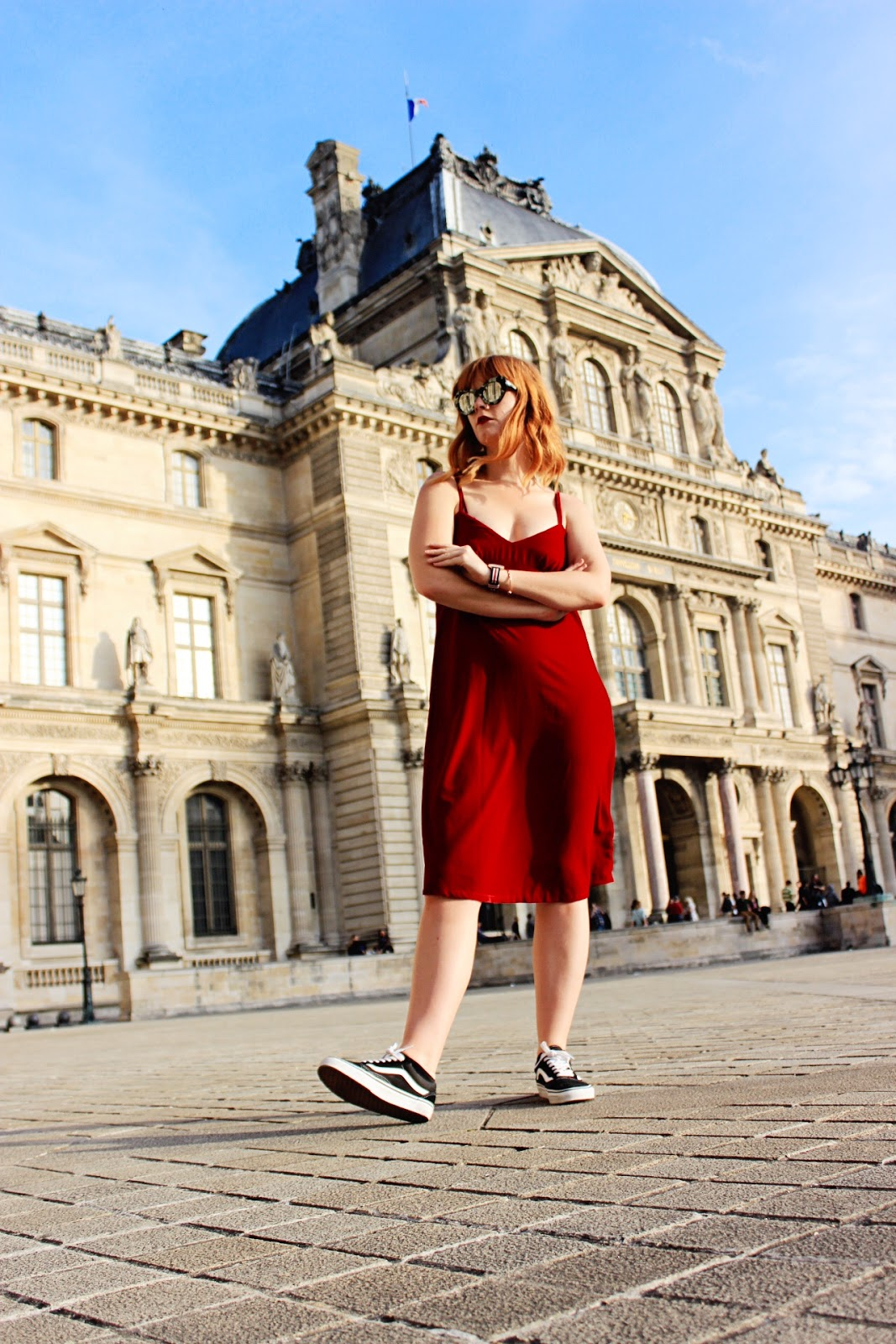 How To Wear Vans Old Skool Sneakers with a Dress